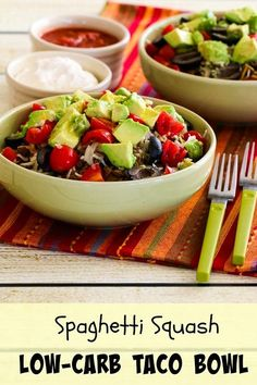 Spaghetti Squash Low-Carb Taco Bowl (Gluten-Free, Can be Paleo) [from KalynsKitchen.com]