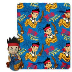 Northwest Co. Jake and the Neverland Pirates Polyester Fleece Throw