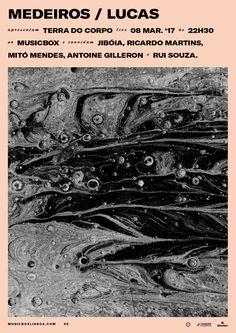 Poster for Medeiros/Lucas show at MUSICBOX, Lisboa. 2017.