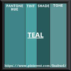 PANTONE SEASONAL COLOR SWATCH TEAL