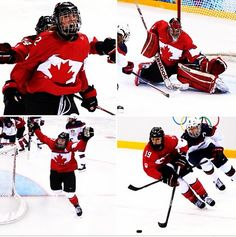 Canada beats USA in overtime for the gold medal in one of the best moments of these Olympics. Olympic Hockey, Women's Hockey, Hockey Baby, Olympic Games, Boston Bruins Logo, All About Canada, Meanwhile In Canada, I Am Canadian, Usa Sports