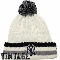 New Era New York Yankees Yester-Year Cuffed Beanie - White 3d0e1f72d5bc