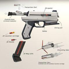 Multipurpose defense handgun  http://orbitalhivestudio.com/
