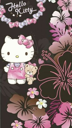 Hello Kitty Drawing, Hello Kitty Cartoon, Hello Kitty Art, Hello Kitty Themes, Hello Kitty My Melody, Hello Kitty Iphone Wallpaper, Hello Kitty Backgrounds, Wallpaper Iphone Cute, Cartoon Wallpaper