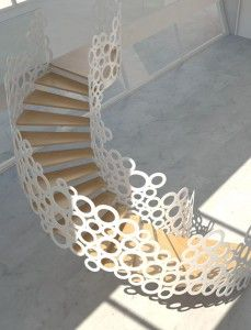 Hallway Stairs Concrete House Strategy Modern Staircase Design and style Curve Artistic Staircase Concepts Functional Stair And Wall Divider Outstanding Modern Stair Steps, Stair Railing, Railings, Wood Stairs, Railing Design, Staircase Design, Staircase Ideas, Stair Design, Railing Ideas