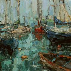 "daily painters of atlanta: ""NEW ENGLAND HARBOR"" Kathryn Morris Trotter"
