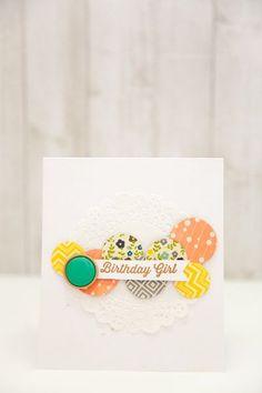Birthday Girl card by Evelyn Pratiwi Yusuf via Jillibean Soup Blog