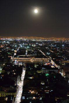 Moon over Guayaquil, Ecuador.