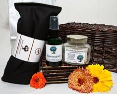A great line of all-natural scrubs and oils.