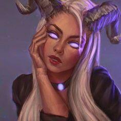 Fire Demon by Manweri on DeviantArt Aries Art, Zodiac Art, Zodiac Signs, Fantasy Women, Dark Fantasy Art, Fire Demon, Zodiac Characters, Fantasy Portraits, Demon Girl