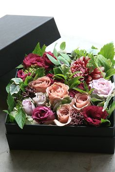 winter flower decor - box
