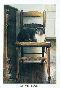 'Gato - the Cat' by Steve Hanks, California watercolor artist, b.1949