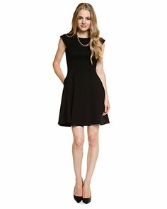 Some of you have to get in on this: ABS by Allen Schwartz Black Ponte Dress