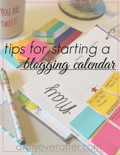 These tips will help you set up a blogging calendar so you can plan ahead and stay organized. #blogtips #blogging