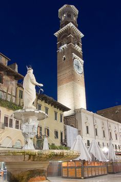 Piazza delle Erbe, Verona, province of Verona, Veneto