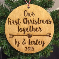 Gift for Couple Christmas Ornament, Personalized Couple Ornament ...