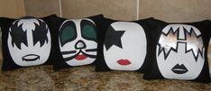 KISS Band Pillow by smashartstudio on Etsy, $78.00