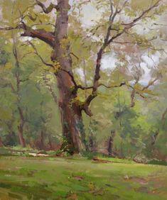 ars est celare artem — John P. Oil Painting Trees, Watercolor Trees, Simple Oil Painting, Watercolor Landscape, Oil Paintings, Guache, Landscape Artwork, Tree Art, Art Oil