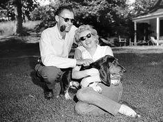 Marilyn Monroe really did have great taste! Love her Bassett Hound Hugo!