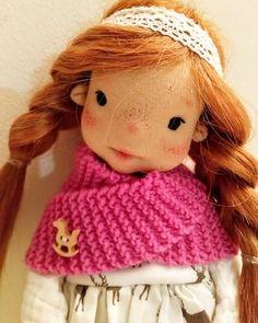 Ayla 11 inches Waldorf inspired doll natural fiber art doll | Etsy Ooak Dolls, Art Dolls, Cotton Tights, Felt Shoes, Waldorf Dolls, Fiber Art, Doll Clothes, Winter Hats, My Etsy Shop