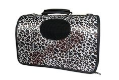 Leopard PU leather bag waterproof laptop tote pet bag cats and dogs bag Shoulder backpack 45*26*24cm -- Read more  at the image link.