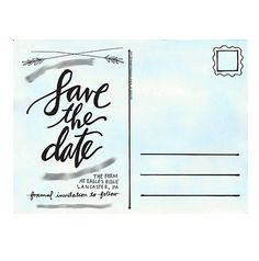 Cork and Chambers: save the date postcard