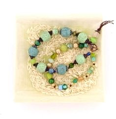 Rustic Sea Foam Faceted Bracelet | AllFreeJewelryMaking.com
