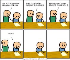 Cyanide and Happiness- Math problems