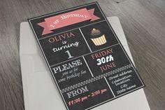 1st Birthday Invitation by Angela Pranarova on @creativemarket