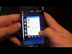 Peek and Flow in BlackBerry 10