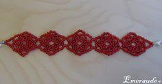 Bijoux en perles: un bracelet de rose