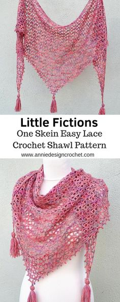 A free pattern for a one skein crochet shawl. One beautiful skein of yarn is all. A free pattern for a one skein crochet shawl. One beautiful skein of yarn is all that is needed to Crochet Prayer Shawls, Crochet Shawl Free, Crochet Wrap Pattern, Crochet Gratis, Crochet Shawls And Wraps, Crochet Scarves, Crochet Patterns, Crochet Dolls, One Skein Crochet