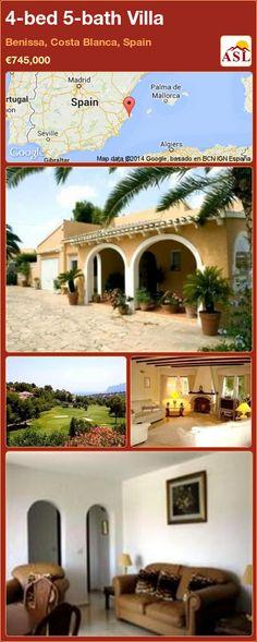 4-bed 5-bath Villa in Benissa, Costa Blanca, Spain ►€745,000 #PropertyForSaleInSpain