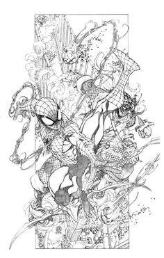 Spider-Man vs. Green Goblin by Harvey Tolibao *