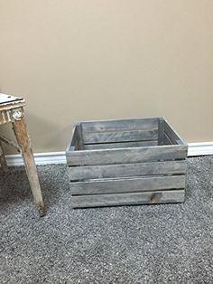 Antique Gray Stained Rustic Wood Crate Darlas Studio 66 http://www.amazon.com/dp/B017EA0MT2/ref=cm_sw_r_pi_dp_GtOrwb1BM8CV7