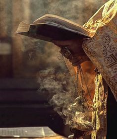 The smell of the incense, the tinkling caused by movement of the censer, and the chanting of the priest, all evoke an onslaught of memories from my childhood held in this one beautiful picture, bringing a sense of peace to my heart.