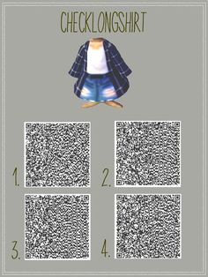 Blue Plaid Long Shirt and Torn Shorts QR Code for Animal Crossing: New Leaf …. Blue Plaid Long Shirt and Torn Shorts QR Code for Animal Crossing: New Leaf …. Blue Plaid Long Shirt and Torn Shorts QR Code for Animal Crossing: New Leaf …. Animal Crossing 3ds, Animal Crossing New Leaf Qr Codes, Animal Crossing Qr Codes Clothes, Animal Crossing Pocket Camp, Kawaii Clothes, Vêtements Goth Pastel, Vêtement Harris Tweed, Motif Acnl, Ac New Leaf