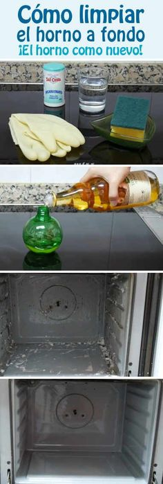 Cómo limpiar el horno a fondo. ¡El horno como nuevo! Cleaning Solutions, Cleaning Hacks, Limpieza Natural, Power Clean, Diy Cleaners, Green Cleaning, Home Hacks, Clean House, Housekeeping