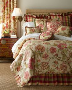 """""""Summerton"""" Bed Linens by Rose Tree at Horchow."""