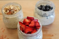 Gluten Free Cold Oatmeal Pots – A Quick, Healthy Back to School Breakfast