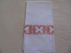 Toalha de Mão Decorator Huck Toweling & Perle por rdrunnercreations