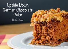 Ridiculously good Upside Down German Chocolate Cake (Gluten-Free); 2015 Jane Bonacci, The Heritage Cook