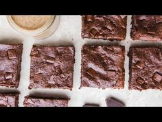 Vegan Almond Butter Brownies - Cook with Me! - YouTube