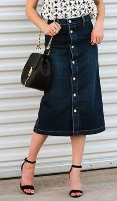 Alexa Chung for AG Denim Midi Skirt