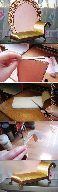 """Como Fazer Uma """"Long Chair"""" Para Casinha de Bonecas"""