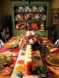 Thanksgiving Table - Giving Thanks - Fall Tablescape
