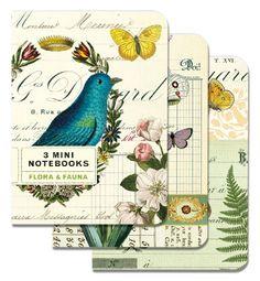 Cavallini Mini Notebooks Flora & Fauna