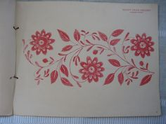 """Gammalt mönster på Delsbosöm från boken """"Allmogemönster"""" av Martina Olsson 1928."""