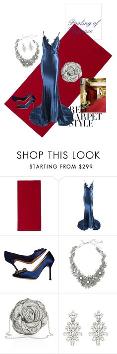 """Pooling in Elegance"" by ashleymwright ❤ liked on Polyvore featuring Paola Lenti, Manolo Blahnik, Oscar de la Renta, Judith Leiber, redcarpetstyle and OscarsThrowback"