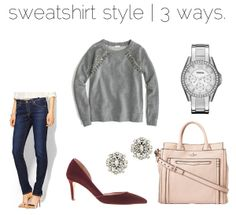sweatshirt style | three ways.